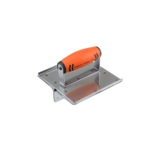 """Kraft 6"""" x 6"""" 1-1/2""""D 1/4""""R Stainless Steel Hand Groover with ProForm® Handle-0"""