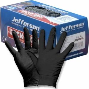 Jefferson Gecko Grip Black Nitrile Gloves-0