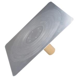 "Kraft SL520 13"" x 13"" Contractor Aluminum Plastering Hawk with Wood Handle -0"