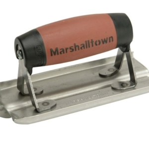 Marshalltown 180D 6 X 3 Stainless Steel Groover-1/2 X 1/2 Groove with DuraSoft Handle-0
