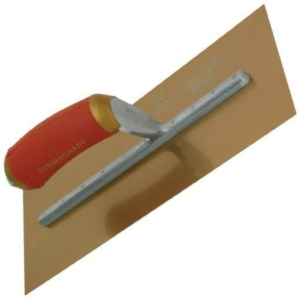 Marshalltown Golden Stainless Steel Permashape Broken-In Plastering Trowel with Durasoft Handle-0